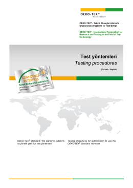 Test yöntemleri - Oeko-Tex