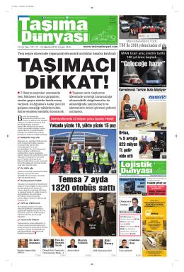 Taşıma Dünyası Gazetesi-197 PDF 17 Ağustos 2015 tarihli sayısını