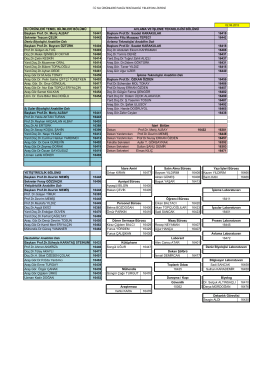 Telefon Rehberi 2015 - Su Ürünleri Fakültesi