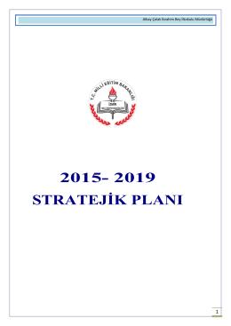 2015- 2019 stratejik planı - İZMİR - URLA