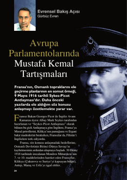 Avrupa Parlamentolar›nda Mustafa Kemal Tart›flmalar›