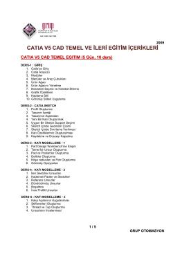 CATIA V5, CAD Temel ve İleri Eğitim ile İlgili