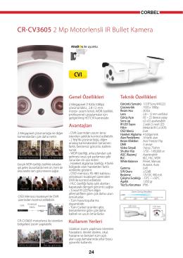 CR-CV3605 2 Mp Motorlensli IR Bullet Kamera