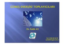 Ders 6 - Yrd.Doç.Dr.Fatih AY