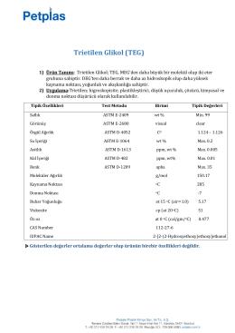 Trietilen Glikol (TEG)