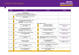 Etkinlik Programı - Ankara Marka Festivali