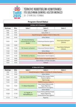 Program (Genel Bakış) - (ToRK)