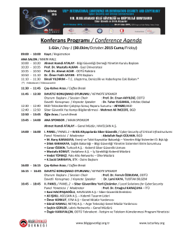 Konferans Programı / Conference Agenda