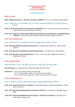Program 2015 - Açık Erişim