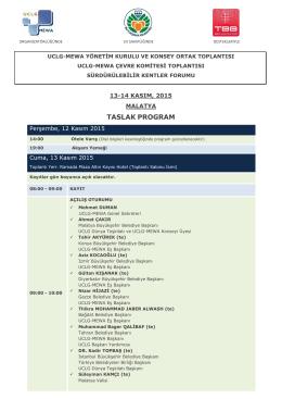 draft programme overvıew - UCLG-MEWA