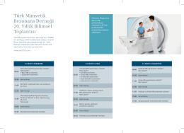 Türk Manyetik Rezonans Derneği 20. Yıllık Bilimsel