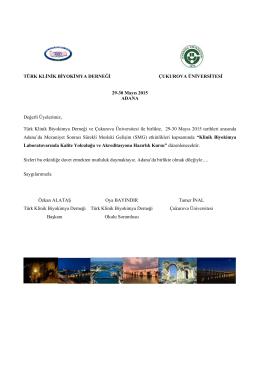 TKBD Adana mayiıs 2015 biyokimya