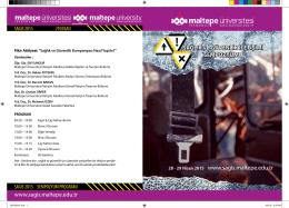 program kitapçığı - Sağlık Güvenlik İletişimi Sempozyumu SAGİS