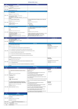24 Nisan 2015, Cuma Bilimsel Program