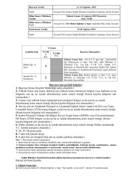 2- Yüksek lisans için lisans