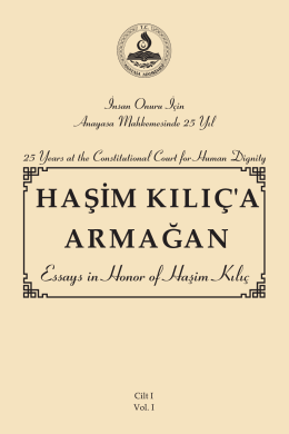 Essays in Honor of Haşim Kılıç