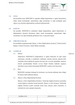 PRS07 Şikayet ve İtiraz Prosedürü