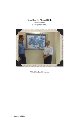Sayın Doç. Dr. Ahmet EROL