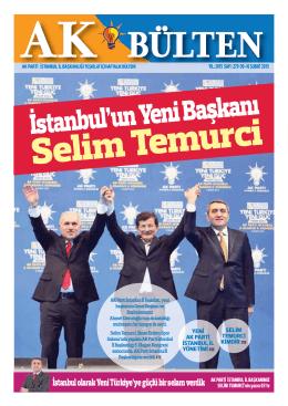İstanbul`un Yeni Başkanı