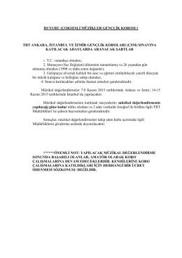 çsm - TRT Müzik Dairesi Başkanlığı