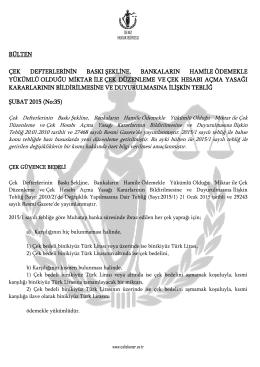 Deniz Hukuk Bürosu Bülten - Şubat 2015