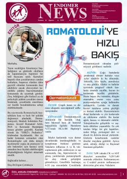 Endomer News 21 Konular 01. ROMATOLOJİ`ye Hızlı Bakış