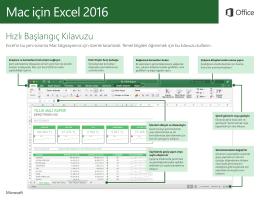 Mac için Excel 2016