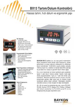 BX13 Tartım/Dolum Kontrolörü