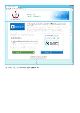 Uygulamaya Kayıt Ol butonu ve hızlı erişim linkleri eklendi