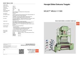 Havajet Etiket Dokuma Tezgahı MÜJET® MBJL6