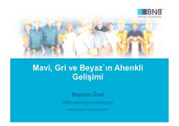 BNB training+consultancy - Bayram ÜNAL Sunumu (için tıklayın)