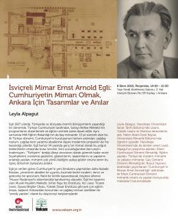 İsviçreli Mimar Ernst Arnold Egli: Cumhuriyetin Mimarı Olmak