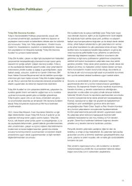 İş Yönetim Politikaları ve Etik Değerler
