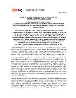 """07.02. 2015 koç holding ceo`su turgay durak: """"hem şirketlerimizin"""