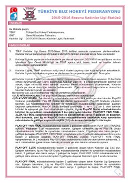 2015-2016 Kadınlar Ligi Statüsü - Türkiye Buz Hokeyi Federasyonu