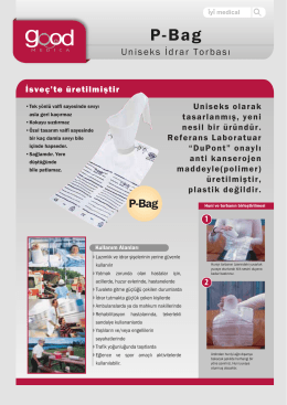 P-Bag İdrar Torbası