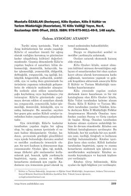 Kilis Oyaları, Kilis İl Kültür ve Turizm Müdürlüğü
