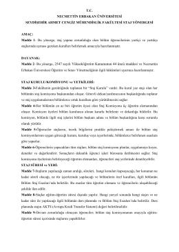 Madde 2 - Necmettin Erbakan Üniversitesi