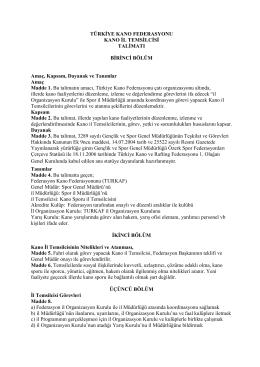 TURKAF - Kano İl Temsilcisi Talimatı