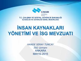 İSG Mevzuatı-Yönetmelikler - Çalışma ve Sosyal Güvenlik Bakanlığı