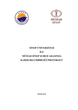 sinop üniversitesi ile müsiad sinop şubesi arasında karşılıklı işbirliği