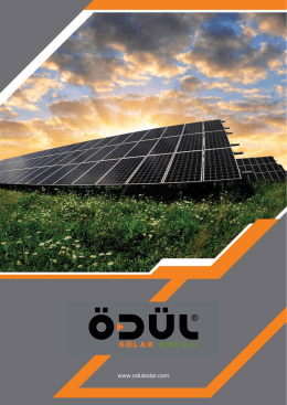 Ödül Solar Katalog - Ödül Solar Enerji