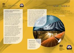 Lisanssız Güneş Enerjisi Projesi Başvuru Süreci Broşürü