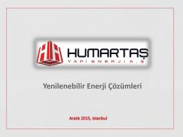 PowerPoint Sunusu - Humartaş Yapı Enerji AŞ