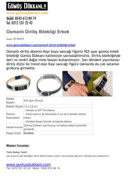 Osmanlı Diriliş Bilekliği Erkek