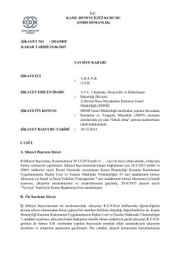 Dosya No: 2014/5855 - ARFF Memurları Alımında Yer Alan Erkek