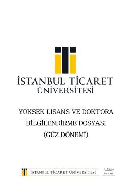 yüksek lisans ve doktora bilgilendirme dosyası