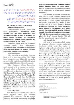 AİLEDE MEDENİYET VE RAHMET Muhterem Müslümanlar