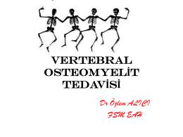 Vertebral Osteomyelit Tedavisi