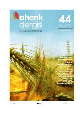 Ahenk Dergisi 44 Temmuz 2015